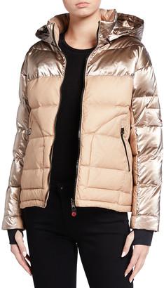 49 Winters Metallic Boxy Down Jacket
