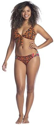 Maaji Tangelove Jacinta D-Cup Front Tie Bikini Top (Orange) Women's Swimwear
