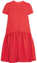Alexander McQueen Drop-waist Wool-blend Scuba Dress - Red