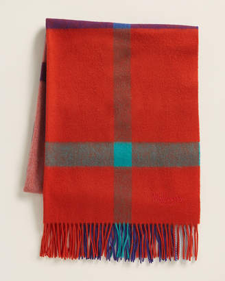 Mulberry Large Check Wool Scarf