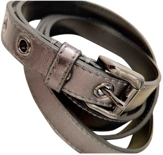 Burberry Silver Leather Belts