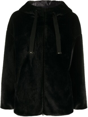 Herno Faux Fur Hooded Jacket