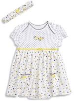 Little Me Infant Girl's Daisy Skirted Bodysuit & Headband Set