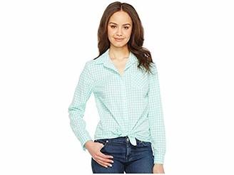 U.S. Polo Assn. Women's Long Sleeve Gingham Woven Shirt