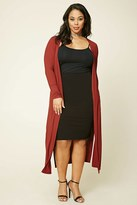 Forever 21 FOREVER 21+ Plus Size Longline Knit Cardigan