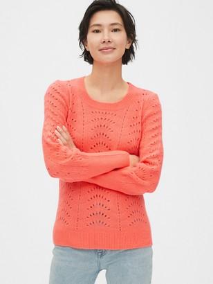 Gap Pointelle Crewneck Sweater