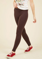 Simple and Sleek Leggings in Mocha in XS