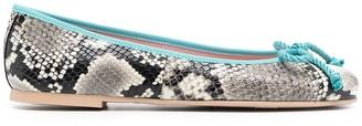 Pretty Ballerinas Dani Roccia snakeskin-effect ballerina shoes