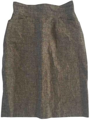 Kenzo Brown Linen Skirt for Women