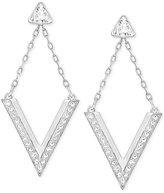 Swarovski Rose Gold-Tone Crystal Chevron Drop Earrings