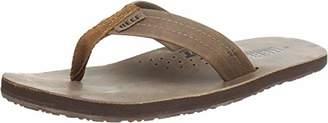 Reef Men's Leather Sandals Draftsmen | Bottle Opener Flip Flops For Men With Soft Cushion Footbed