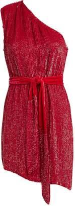 retrofete Ella One-Shoulder Sequin Dress