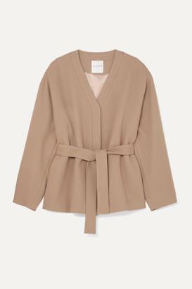 BEIGE LE 17 SEPTEMBRE - Belted Wool-blend Crepe Jacket