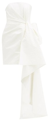 Carolina Herrera Draped Bandeau Silk-faille Mini Dress - Ivory