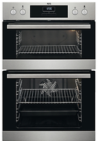 AEG DCB331010M Built-In Double Oven, Stainless Steel