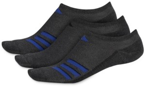 adidas Men's 3-Pack Superlite Stripe No-Show Socks