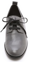 Jil Sander Navy Leather Oxfords