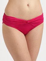 Badgley Mischka Shirred/Twisted Bikini Bottom