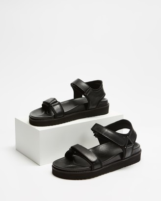 AERE - Women's Black Brogues & Loafers - Leather & Neoprene Chunky Sandals - Size 5 at The Iconic