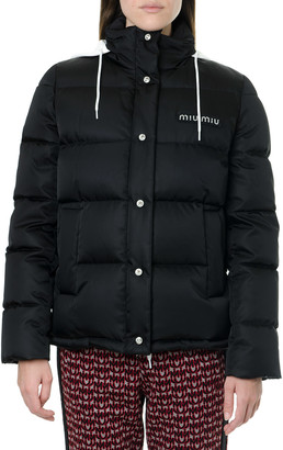 Miu Miu Black Padded Down Jacket