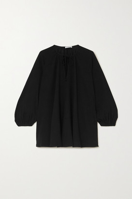 Co Tie-detailed Crepe Blouse - Black