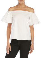 Necessary Objects Off-The-Shoulder Poplin Blouse