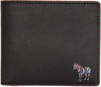 Paul Smith Black and Purple Zebra Bifold Wallet
