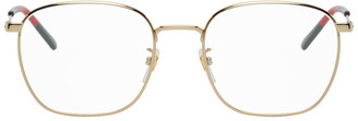 Gucci Gold Round Glasses