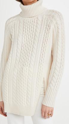 Naadam Cable Turtleneck Tunic Sweater