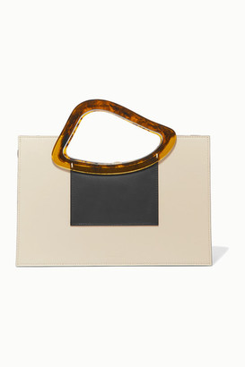 NATURAE SACRA Arp Sailent Leather And Resin Tote - Off-white