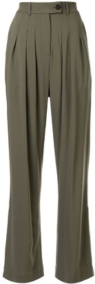 Strateas Carlucci High-Waisted Pleated Trousers