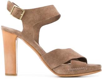 Del Carlo Crossover Strap Sandals