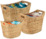Honey-Can-Do Tall Natural Baskets (Set of 3)