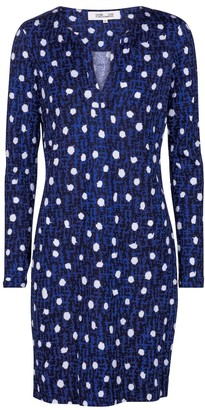 Diane von Furstenberg Reina polka-dot silk jersey minidress