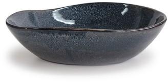 Salt & Pepper Artefact Pottery Serving Bowl 30cm Blue Dappled