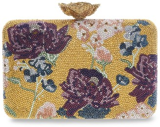 Judith Leiber Gold Bouquet Clutch Bag