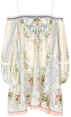 Camilla Linen Off-The-Shoulder Dress