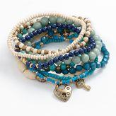 Mudd Gold- Tone Bead Stretch Bracelet Set