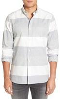 French Connection Men's 'Enderbite' Trim Fit Stripe Sport Shirt