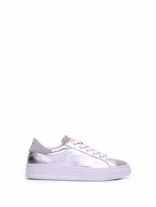 Crime London Silver Leather Sneaker