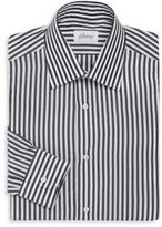 Brioni Regular-Fit Bengal Striped Cotton Dress Shirt