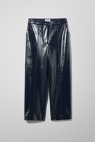 Weekday Kylie Patent Trousers - Blue