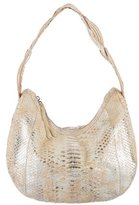 Nancy Gonzalez Metallic Python Hobo