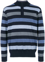 Paul & Shark striped zip collar sweater