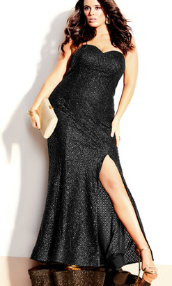 City Chic Extravaganza Maxi Dress - black