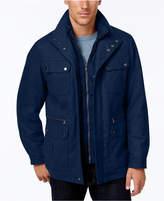 Michael Kors Men's Big & Tall Wool-Blend Field Coat with Attached Bib