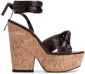 Paris Texas 140mm Cork Wedge Sandals