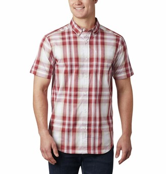 Columbia Men's Rapid Rivers II Short Sleeve Plaid Shirt Comfort Stretch