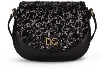 Dolce & Gabbana Kids Glitter Shoulder Bag