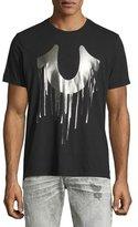 True Religion Drip-Effect Horseshoe Graphic T-Shirt